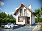 Проект узкого дома с гаражом и подвалом